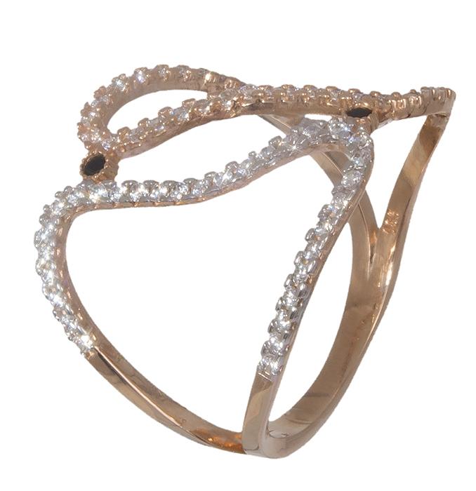 Ροζ χρυσό δαχτυλίδι 14K 019335 019335 Χρυσός 14 Καράτια