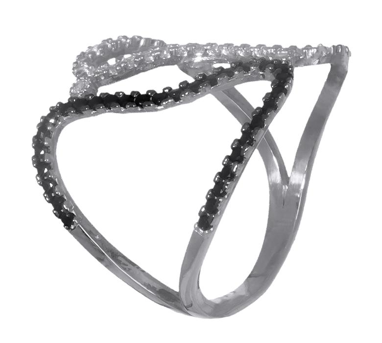 Λευκόχρυσο δαχτυλίδι με πέτρες ζιργκόν 14K 019337 019337 Χρυσός 14 Καράτια