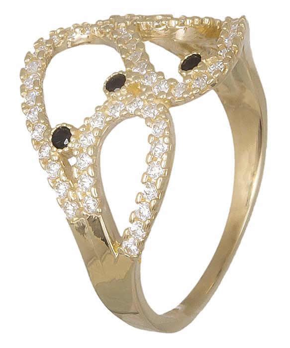 Χρυσό δαχτυλίδι 14K 019339 019339 Χρυσός 14 Καράτια χρυσά κοσμήματα δαχτυλίδια με μαργαριτάρια και διάφορες πέτρες