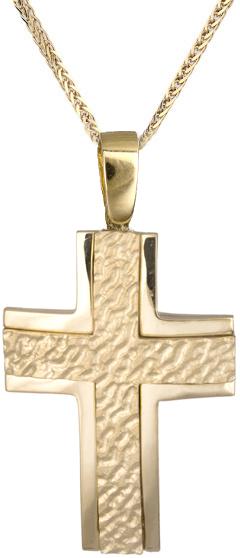 Βαπτιστικοί Σταυροί με Αλυσίδα Σταυρός χρυσός με καδένα για αγόρι 14Κ C019352 01 σταυροί βάπτισης   γάμου βαπτιστικοί σταυροί με αλυσίδα