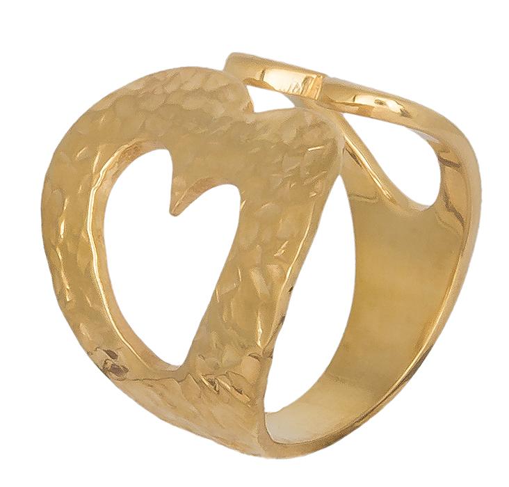 Δαχτυλίδι από επίχρυσο ασήμι με καρδούλες 019390 019390 Ασήμι ασημένια κοσμήματα δαχτυλίδια
