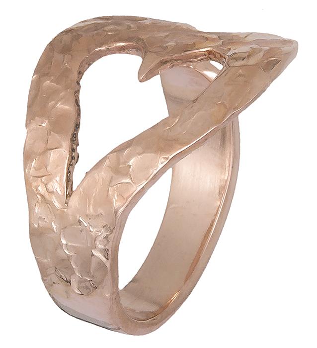 Γυναικείο δαχτυλίδι επίχρυσο με καρδούλα 019391 019391 Ασήμι
