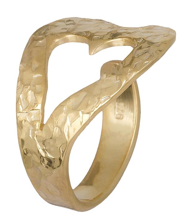 Δαχτυλίδι επίχρυσο με καρδούλα 019392 019392 Ασήμι