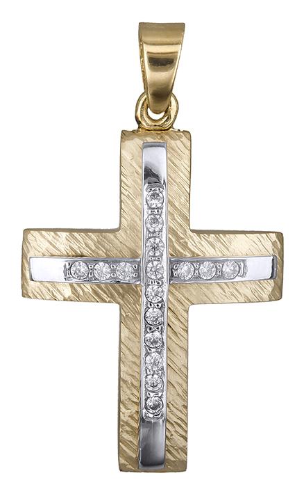 Σταυροί Βάπτισης - Αρραβώνα Γυναικείος σταυρός 14Κ 019447 019447 Γυναικείο Χρυσός 14 Καράτια