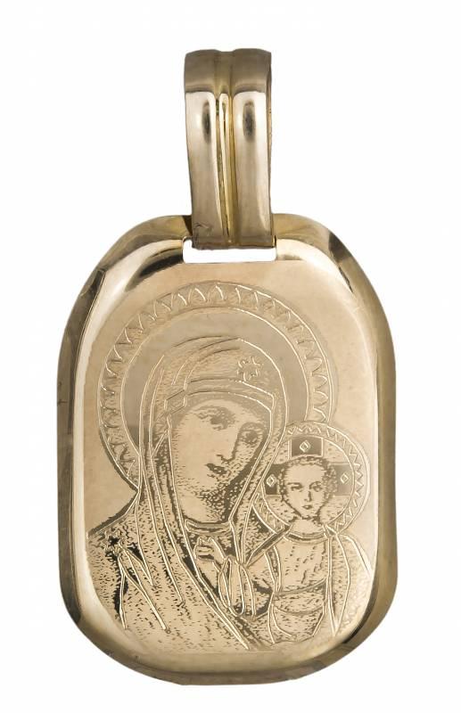 Χρυσό Φυλαχτό με την Παναγία Κ14 019499 019499 Χρυσός 14 Καράτια