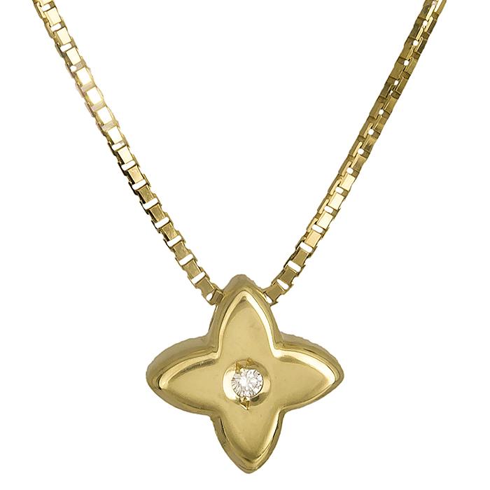 Χρυσός σταυρός Κ18 με brilliant 019560 019560 Χρυσός 18 Καράτια χρυσά κοσμήματα σταυροί
