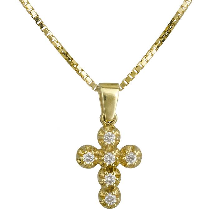 Βαπτιστικοί Σταυροί με Αλυσίδα Γυναικείος σταυρός Κ18 C019566 019566C Γυναικείο Χρυσός 18 Καράτια