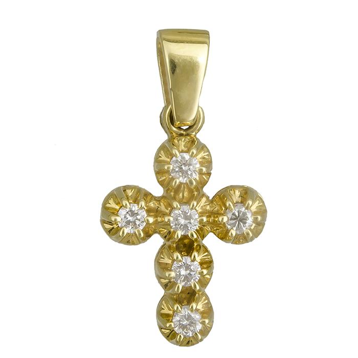Σταυροί Βάπτισης - Αρραβώνα Γυναικείος σταυρός Κ18 019566 019566 Γυναικείο Χρυσός 18 Καράτια