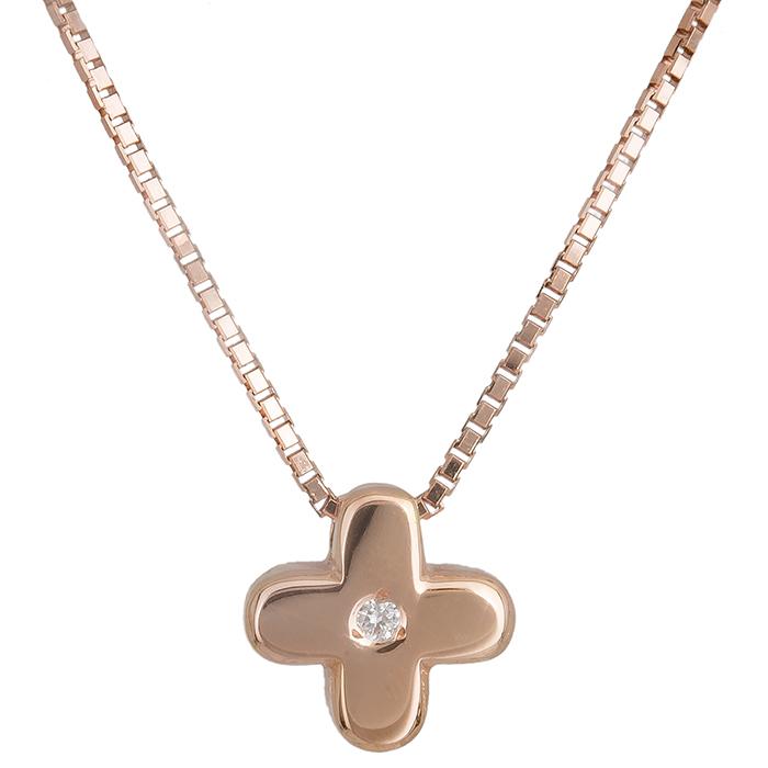 Ροζ gold σταυρός Κ18 019568 019568 Χρυσός 18 Καράτια