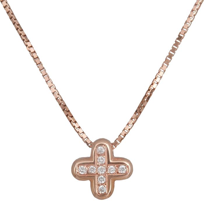 Ροζ gold σταυρός Κ18 019569 019569 Χρυσός 18 Καράτια χρυσά κοσμήματα σταυροί