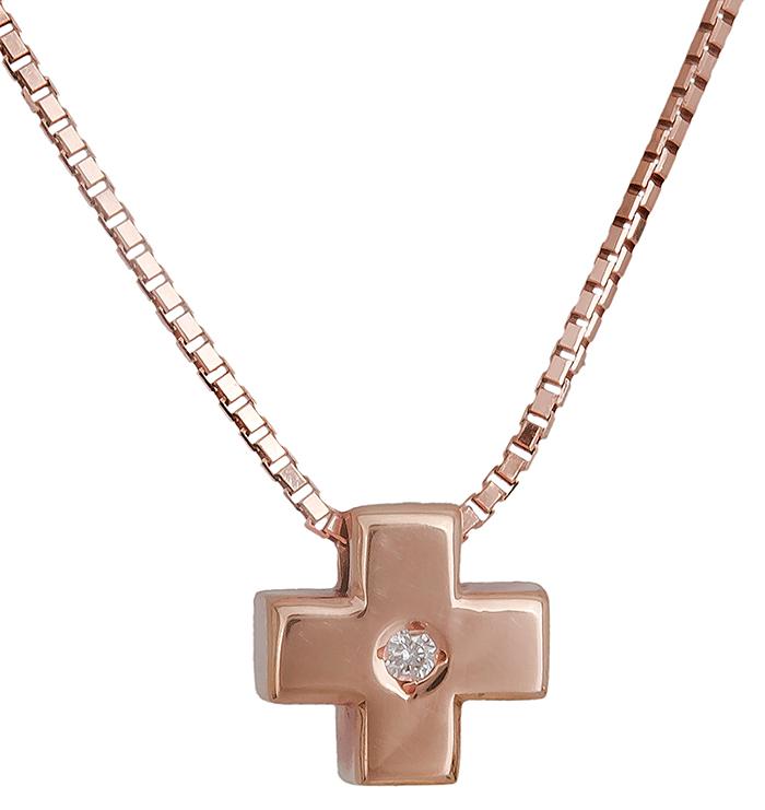 Ροζ χρυσός σταυρός Κ18 019571 019571 Χρυσός 18 Καράτια χρυσά κοσμήματα σταυροί