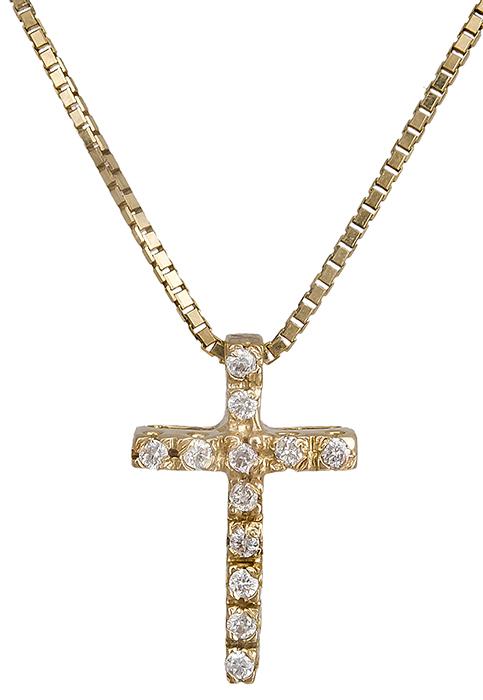 Γυναικείος σταυρός Κ18 019573 019573 Χρυσός 18 Καράτια χρυσά κοσμήματα σταυροί