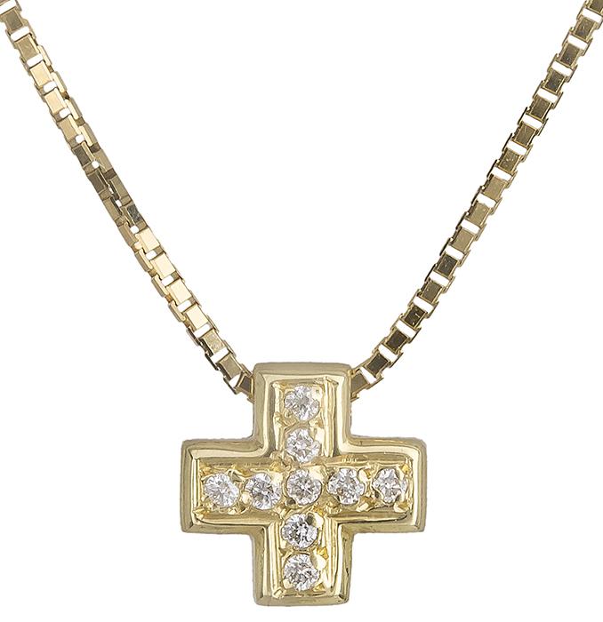 Χρυσός σταυρός Κ18 019575 019575 Χρυσός 18 Καράτια χρυσά κοσμήματα σταυροί