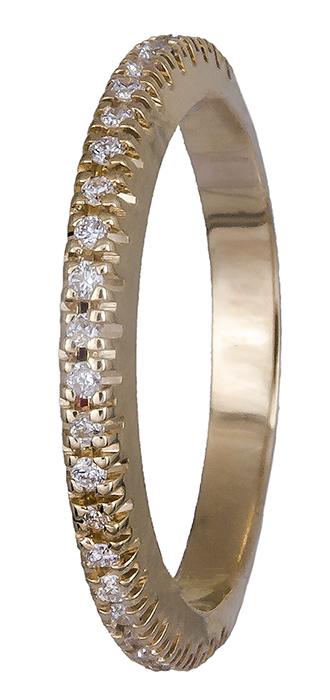 Χρυσό δαχτυλίδι 18Κ με διαμάντια 019595 019595 Χρυσός 18 Καράτια χρυσά κοσμήματα δαχτυλίδια σειρέ ολόβερα