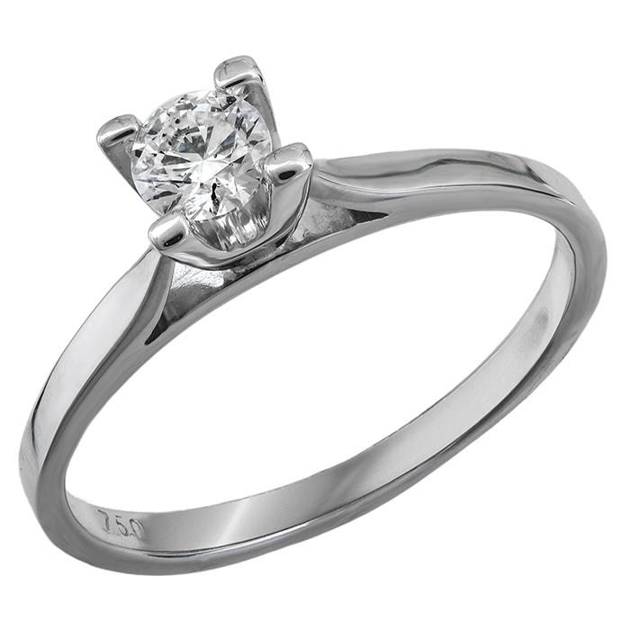 Μονόπετρο δαχτυλίδι Κ18 019603 019603 Χρυσός 18 Καράτια