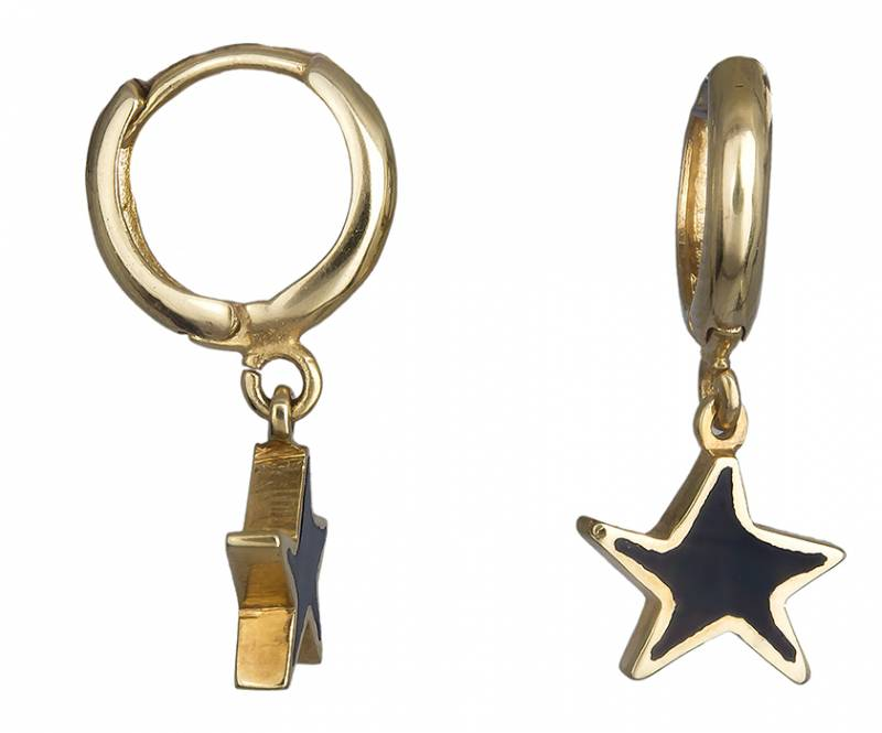 Χρυσά σκουλαρίκια αστερίας 14Κ 019619 019619 Χρυσός 14 Καράτια