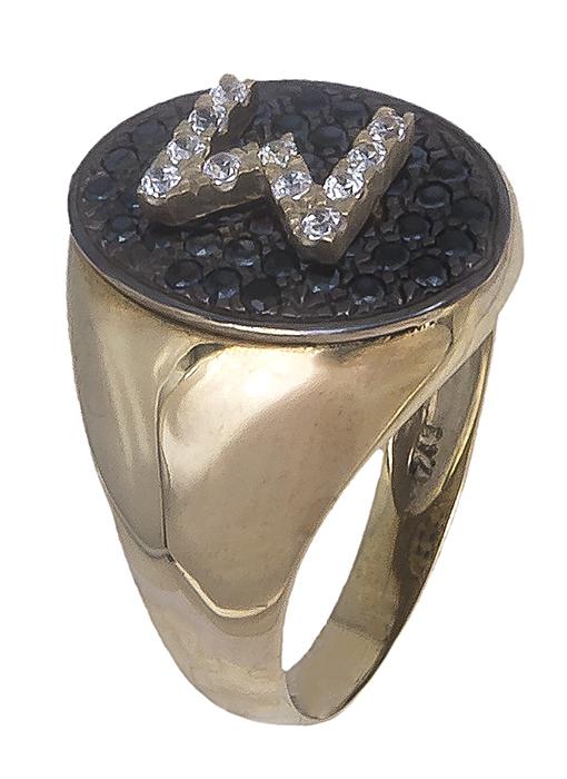 Δαχτυλίδι σεβαλιέ με μονόγραμμα Κ14 019669 019669 Χρυσός 14 Καράτια