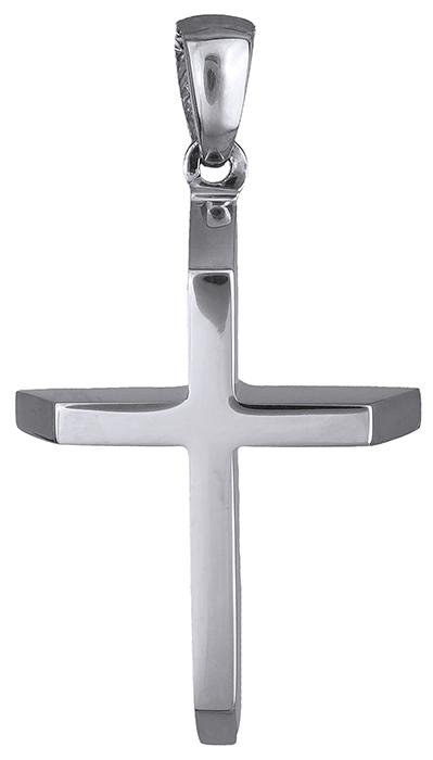Σταυροί Βάπτισης - Αρραβώνα Σταυρός λευκόχρυσος ανδρικός 14Κ 019685 019685 Ανδρικό Χρυσός 14 Καράτια