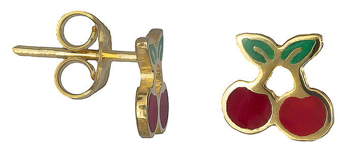 Σκουλαρίκια παιδικά κερασάκι 019726 019726 Χρυσός 14 Καράτια