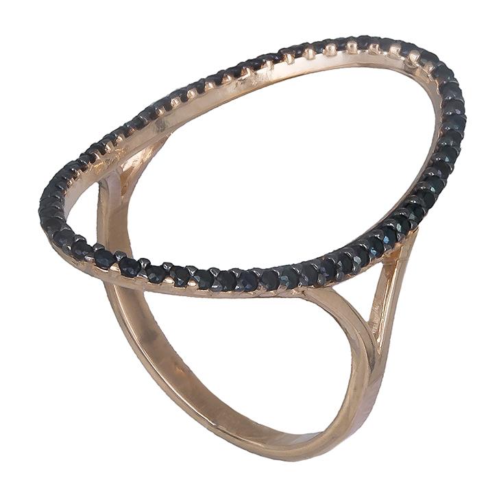 Ροζ χρυσό δαχτυλίδι με πέτρες Κ14 019766 019766 Χρυσός 14 Καράτια