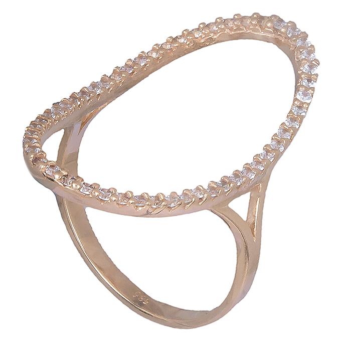 Ροζ χρυσό δαχτυλίδι Κ14 019769 019769 Χρυσός 14 Καράτια