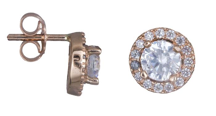 Ροζ gold σκουλαρίκια Κ14 019784 019784 Χρυσός 14 Καράτια