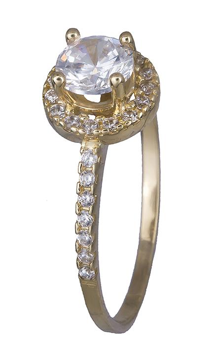 Μονόπετρο δαχτυλίδι Κ14 019788 019788 Χρυσός 14 Καράτια