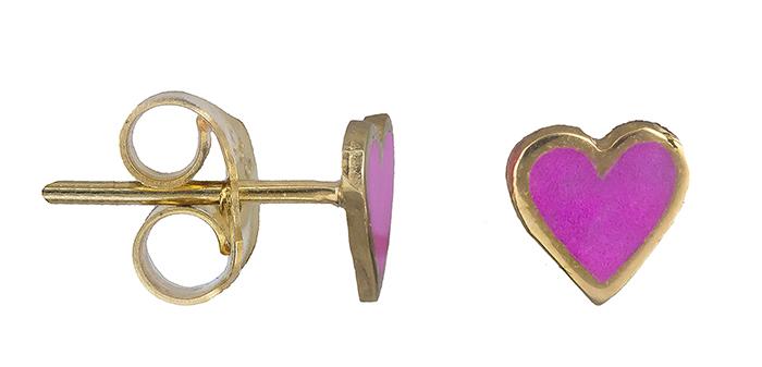 Παιδικά σκουλαρίκια καρδιά 019794 019794 Χρυσός 14 Καράτια παιδικά κοσμήματα σκουλαρίκια