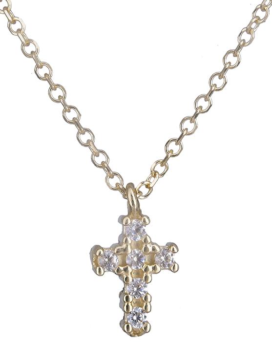 Χρυσό σταυρουδάκι διπλής όψης 14Κ 019799 019799 Χρυσός 14 Καράτια