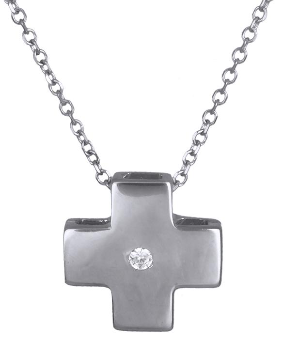 Λευκόχρυσος σταυρός Κ14 019810 019810 Χρυσός 14 Καράτια χρυσά κοσμήματα σταυροί