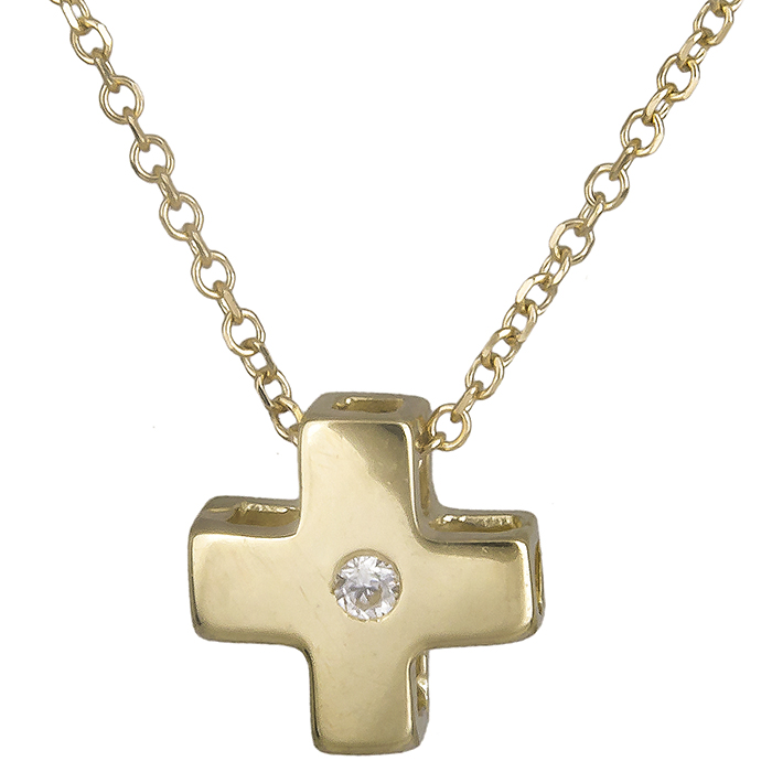 Χρυσό σταυρουδάκι Κ14 019811 019811 Χρυσός 14 Καράτια