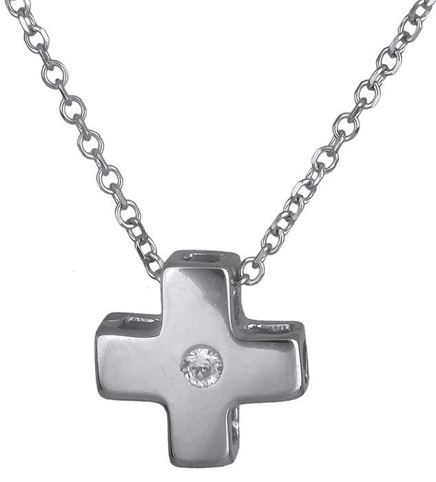 Λευκόχρυσο σταυρουδάκι Κ14 019812 019812 Χρυσός 14 Καράτια