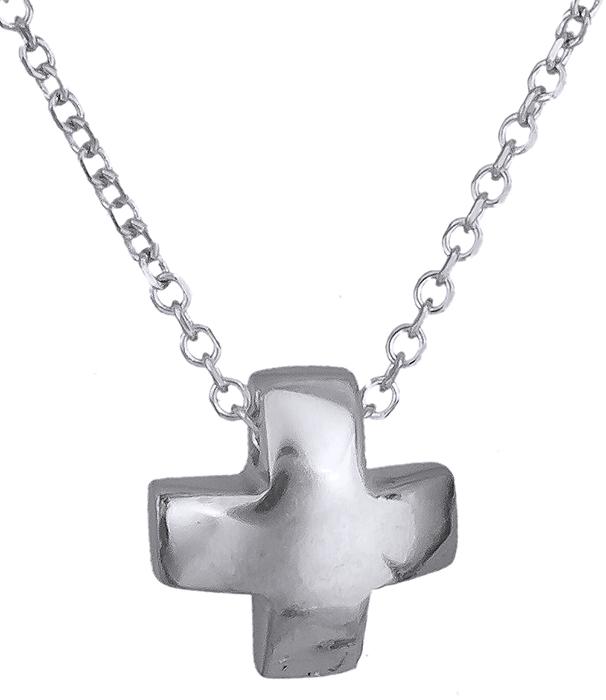 Λευκόχρυσος σταυρός Κ14 019813 019813 Χρυσός 14 Καράτια