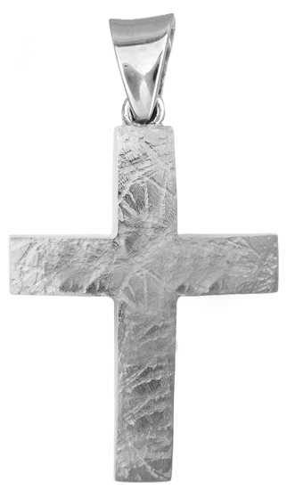 Σταυροί Βάπτισης - Αρραβώνα Λευκόχρυσος αντρικός σταυρός Κ9 019821 019821 Ανδρικό Χρυσός 9 Καράτια