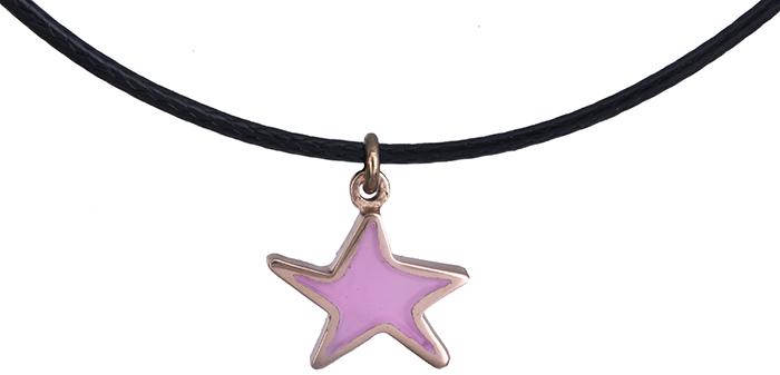 Ροζ χρυσό κολιέ αστερίας Κ14 019852 019852 Χρυσός 14 Καράτια