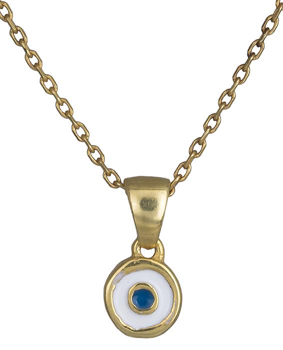 Κολιέ με ματάκι επίχρυσο 925 019865 019865 Ασήμι ασημένια κοσμήματα κολιέ