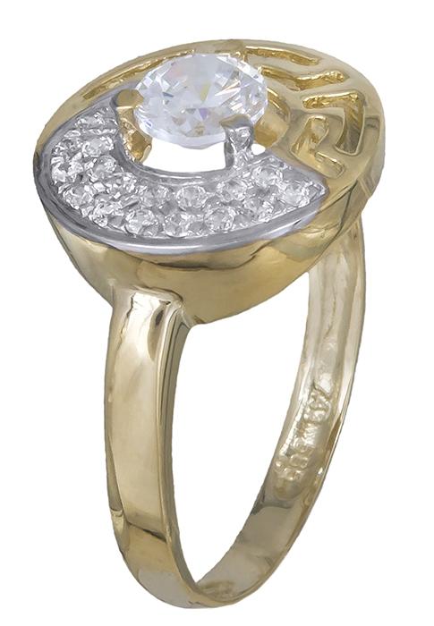 Γυναικείο δαχτυλίδι Κ14 019937 019937 Χρυσός 14 Καράτια