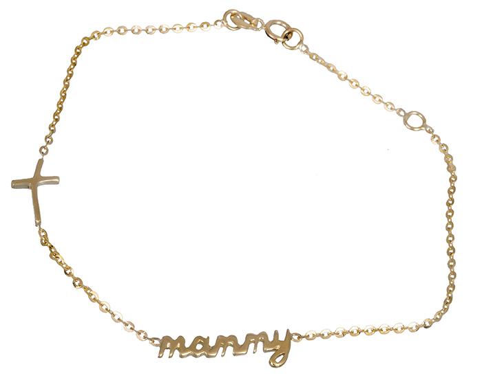 Γυναικείο βραχιόλι mommy 019940 019940 Χρυσός 14 Καράτια