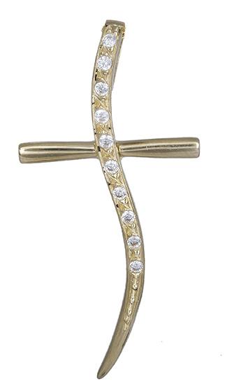 Σταυροί Βάπτισης - Αρραβώνα Γυναικείος σταυρός σε χρυσό 14Κ 019958 019958 Γυναικείο Χρυσός 14 Καράτια