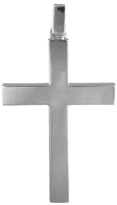 Σταυροί Βάπτισης - Αρραβώνα Λευκόχρυσος αντρικός σταυρός Κ18 020113 020113 Ανδρικό Χρυσός 18 Καράτια