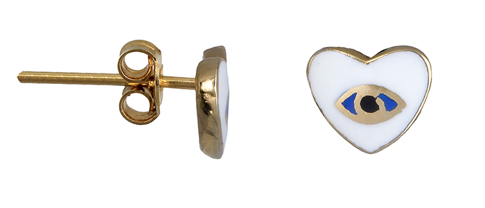 Παιδικά σκουλαρίκια καρδούλες 020117 020117 Χρυσός 14 Καράτια