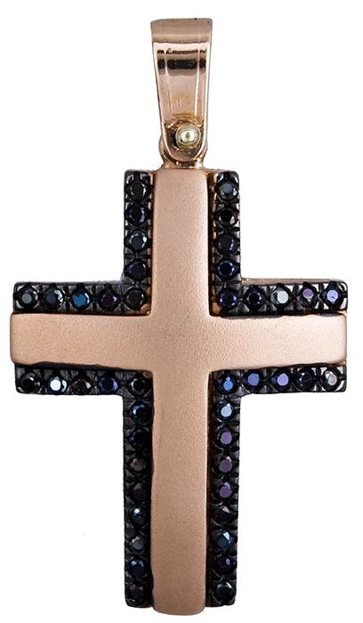 Σταυροί Βάπτισης - Αρραβώνα Γυναικείος σταυρός σε ροζ χρυσό Κ14 020136 020136 Γυναικείο Χρυσός 14 Καράτια