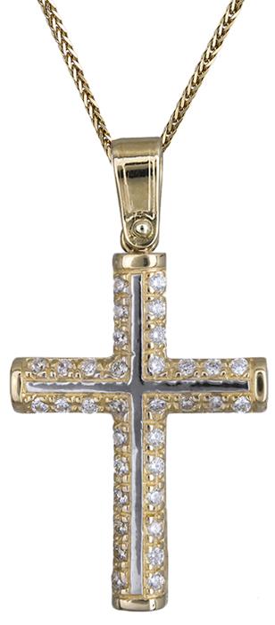 Βαπτιστικοί Σταυροί με Αλυσίδα Σταυρός με αλυσίδα 14Κ C020142 020142C Γυναικείο Χρυσός 14 Καράτια
