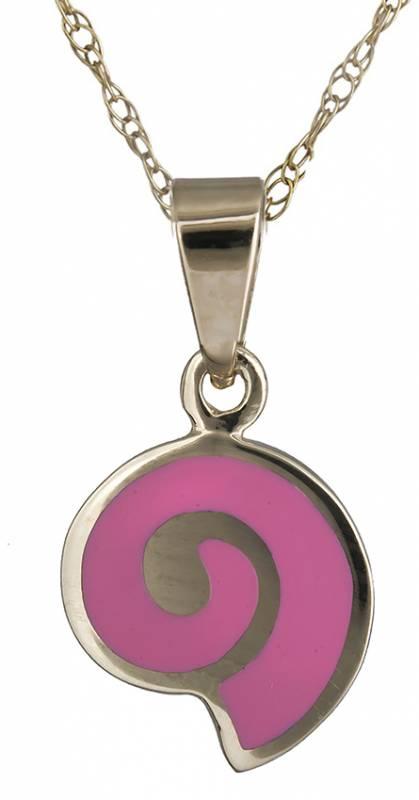 Κολιέ με ροζ κοχύλι 14Κ C020163 020163C Χρυσός 14 Καράτια