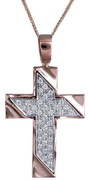 Βαπτιστικοί Σταυροί με Αλυσίδα Σταυρός βάπτισης Κ14 C020305 020305C Γυναικείο Χρυσός 14 Καράτια