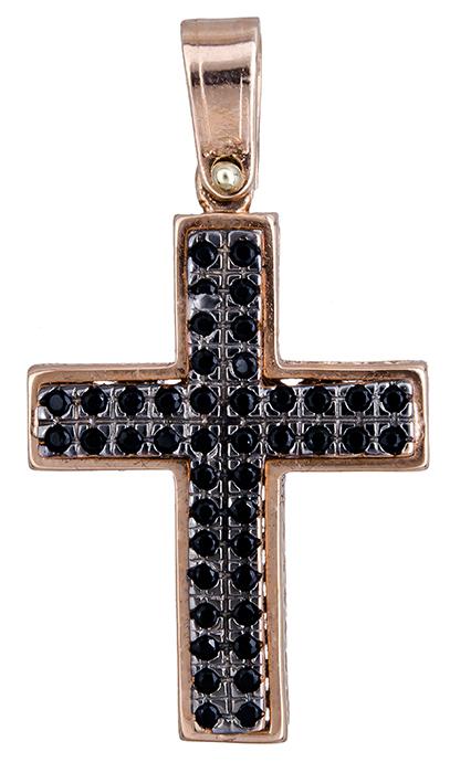 Σταυροί Βάπτισης - Αρραβώνα Ροζ gold γυναικείος σταυρός 14Κ 020314 020314 Γυναικείο Χρυσός 14 Καράτια