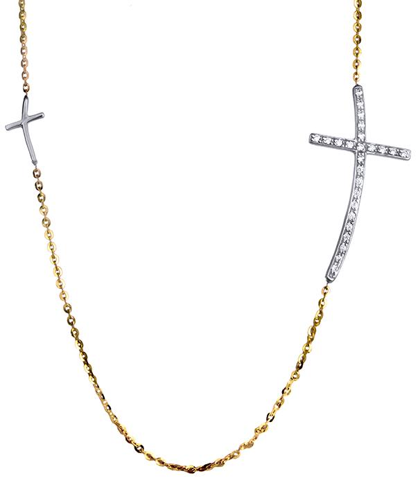 Δίχρωμο κολιέ Κ14 020320 020320 Χρυσός 14 Καράτια