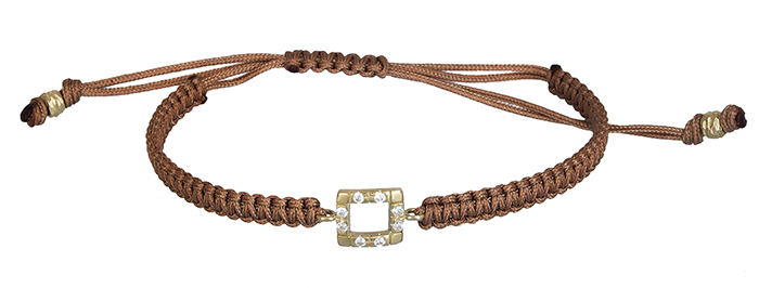 Βραχιόλι μακραμέ 14Κ 020348 020348 Χρυσός 14 Καράτια χρυσά κοσμήματα βραχιόλια