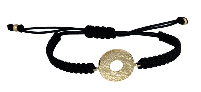 Μακραμέ βραχιόλι με χρυσό μοτίφ 14Κ 020370 020370 Χρυσός 14 Καράτια