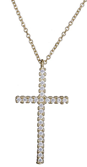 Χρυσός πετράτος σταυρός Κ14 020403 020403 Χρυσός 14 Καράτια χρυσά κοσμήματα κολιέ